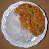 Curry rosso tailandese del vegano - la pianta ha basato l'alimento fotografie stock