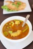 curry rybi zdrowy przygotowany stylowy tajlandzki ve zdjęcie stock