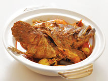 Curry Seafood Clay Pot Royalty Free Stock Images
