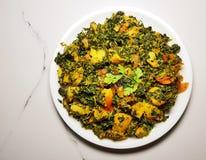 Curry seco de Aalu Methi foto de archivo