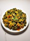 Curry seco de Aalu Methi fotos de archivo