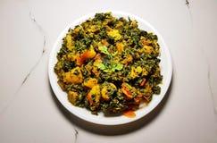 Curry seco de Aalu Methi fotografía de archivo libre de regalías