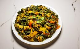 Curry seco de Aalu Methi fotos de archivo libres de regalías