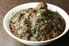Curry senz'ossa del montone del bengalese tradizionale Fotografie Stock Libere da Diritti