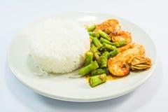 Curry Shrimp Fried Rice Stock Photo