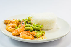 Curry Shrimp Fried Rice Royalty Free Stock Photography