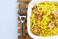 Curry shrimp noodles Royalty Free Stock Photo