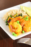 Curry shrimp Royalty Free Stock Photo