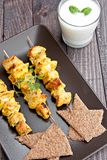 Curry skewers Royalty Free Stock Photos