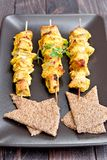 Curry skewers Stock Photography