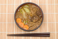 Curry soba noodles Stock Photo