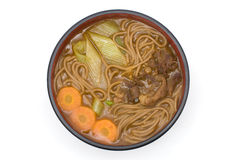 Curry soba noodles Stock Photos