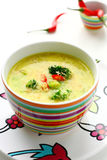 Curry soup with broccoli Royalty Free Stock Photo