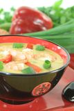 Curry soup with shrimp and chili Stock Photography