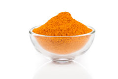 Curry spice. In glass bowls,  on white background Stock Photography
