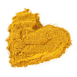 Curry spice, heart Royalty Free Stock Photo