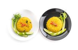 Curry stekte ris Arkivfoto