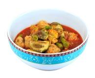 Curry tailandés con el camarón en cuenco Fotos de archivo libres de regalías