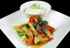 Curry tailandés cremoso 1 del pollo Fotografía de archivo