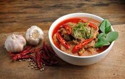 Curry tailandés delicioso del panang fotografía de archivo libre de regalías