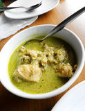 Curry tailandés verde - alimento asiático suroriental de la calle Imagen de archivo