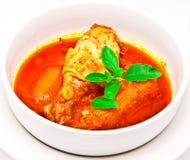 Curry tailandese con il pollo o Musmum Kai fotografie stock libere da diritti