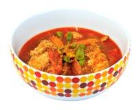 Curry tailandese del gamberetto con gamberetto in ciotola fotografie stock libere da diritti