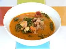 Curry tailandese della carne di maiale dell'alimento Fotografia Stock