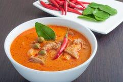 Curry tailandese della carne di maiale di stile Immagini Stock