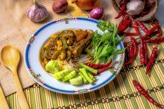 Curry tailandese della tagliatella Immagini Stock Libere da Diritti