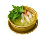 Curry tailandese di verde del pollo Fotografia Stock
