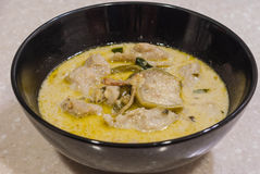 Curry tailandese di verde di stile Immagine Stock