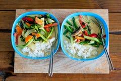 Curry tailandese verde per due Fotografie Stock Libere da Diritti