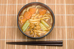 Curry udon noodles Stock Photos