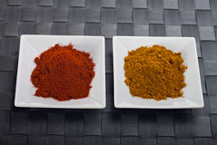 Curry und Paprika Stockfotografie
