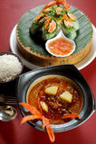 Curry und Reis Lizenzfreie Stockbilder