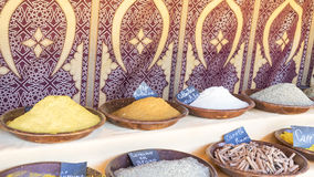 Curry, variety of colorful spices and different flavors, spices Stock Images