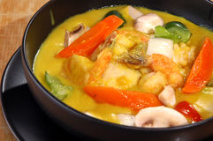 Curry vegetable seafood stew Stock Photos
