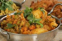 Curry vegetal mezclado fotografía de archivo