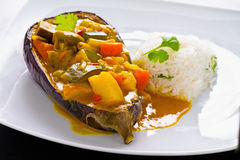 Curry vegetariano immagine stock