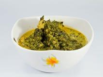 Curry verde de la col rizada foto de archivo