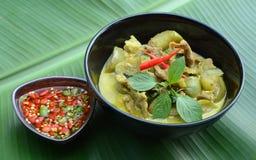 Curry verde del cerdo, cocina tailandesa Imágenes de archivo libres de regalías