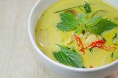 Curry verde del pollo foto de archivo