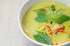 Curry verde del pollo imagen de archivo libre de regalías