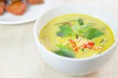 Curry verde del pollo imágenes de archivo libres de regalías