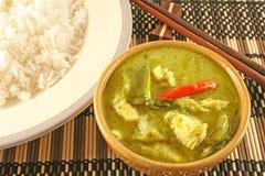 Curry verde tailandés foto de archivo libre de regalías