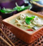 Curry verde tailandés Fotografía de archivo libre de regalías