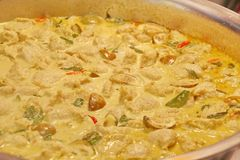 Curry verde tailandese Fotografia Stock