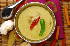 Curry verde tailandese Immagini Stock
