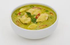 Curry verde in una ciotola bianca Fotografia Stock Libera da Diritti